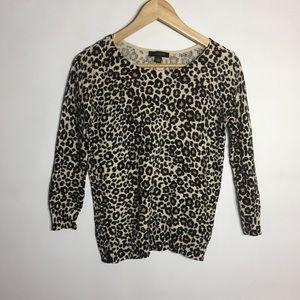 Ann Taylor leopard print lightweight sweater